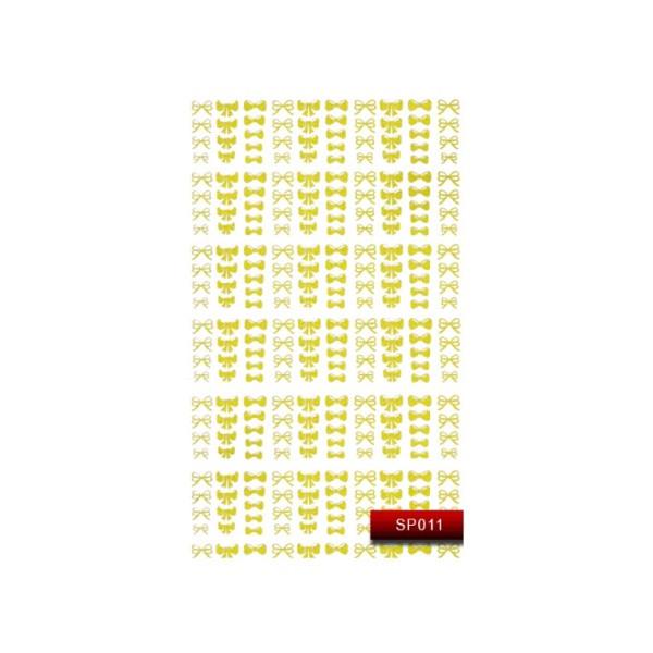 "Наклейка для дизайна ногтей Kodi Professional ""Gold"" Nail Art Stickers SP011"