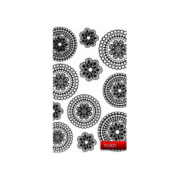 "Наклейка для дизайна ногтей Kodi Professional ""Black"" Nail Art Stickers YL001"