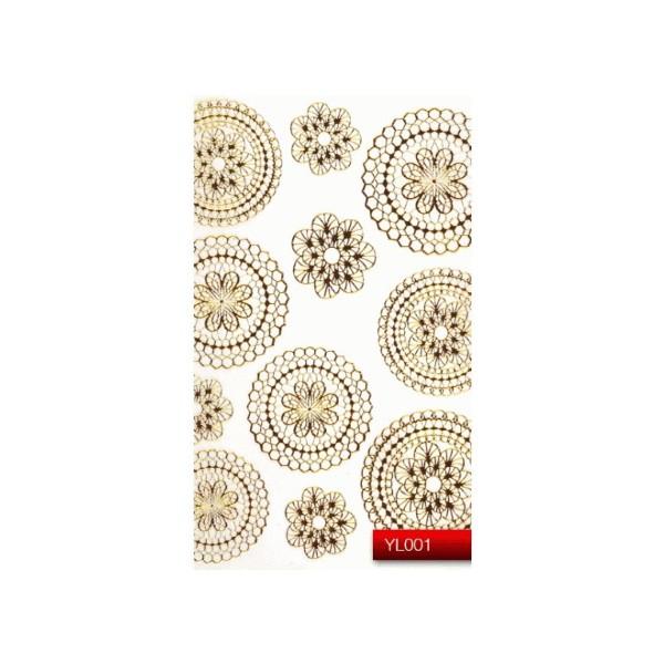"Наклейка для дизайна ногтей Kodi Professional ""Gold"" Nail Art Stickers YL001"