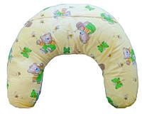 Подушка для кормящих мам, мишки на светлом фоне