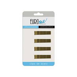 Невидимки для волос  Eurostil коричневые 50 мм 24 шт
