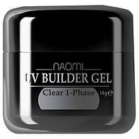 Однофазный прозрачный гель Naomi UV Builder Gel Clear 1-Phase 14 мл