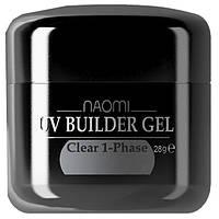 Однофазный прозрачный гель Naomi UV Builder Gel Clear 1-Phase 28 мл
