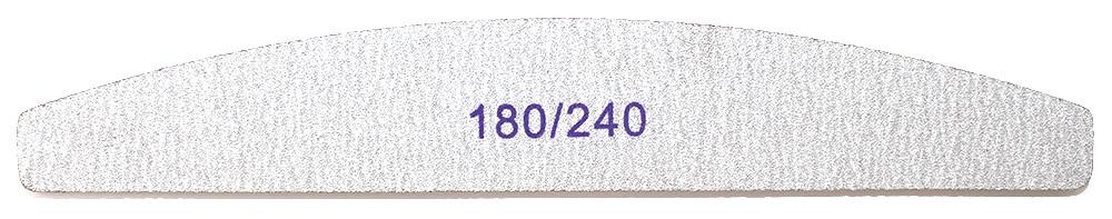 Пилочка для ногтей серая полукруглая (без названия) 180/240