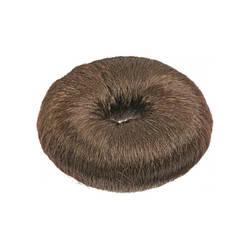 Подкладка Sibel в форме кольца для вечерних причесок коричневая 9 см