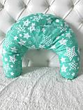 Подушка для годуючих мам, зірки на зеленому, фото 4