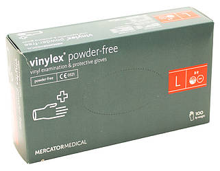 Перчатки виниловые Vian L 100 шт