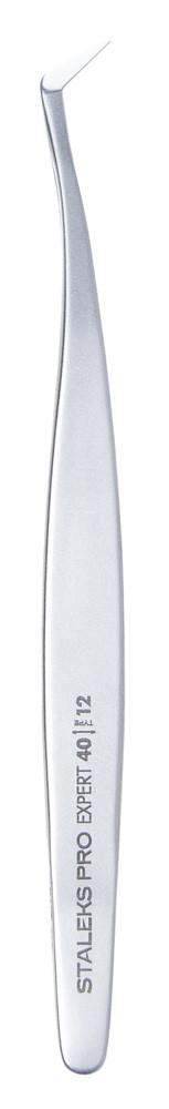 Профессиональный пинцет для ресниц Staleks TE-40/12