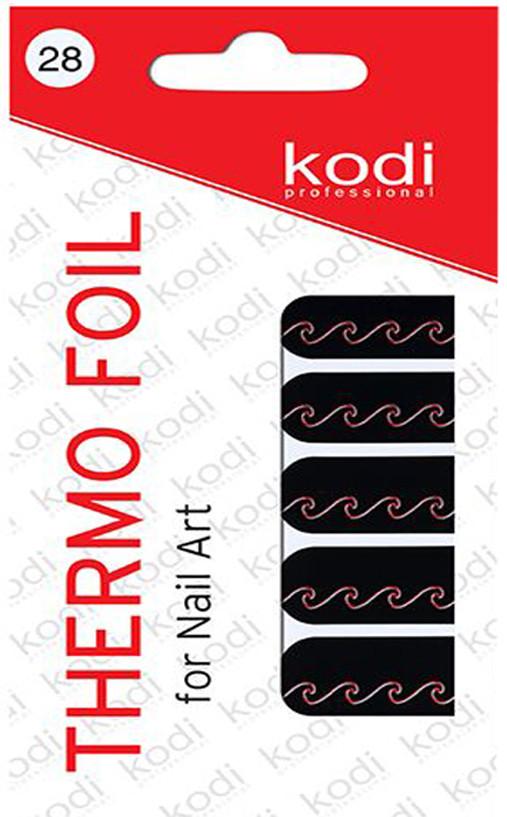 Термо фольга для дизайна ногтей Kodi Professional №028