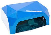 Профессиональная LED-лампа з сенсором для полимеризации геля, синяя 36W