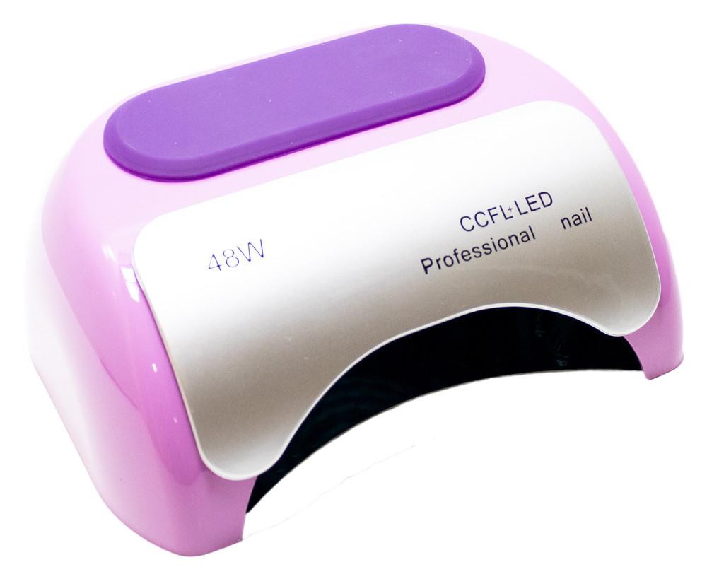 Профессиональная CCFL LED-лампа для полимеризации геля, фиолетовая 48W