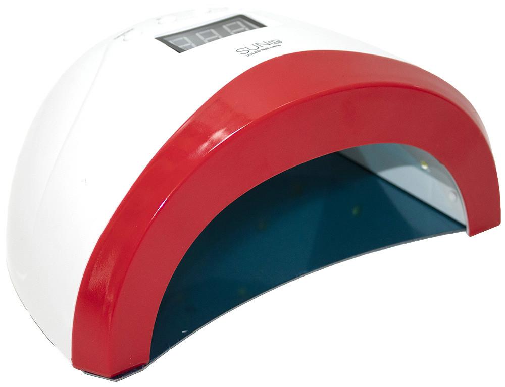 Профессиональная LED-лампа для полимеризации геля Sun 1S (2 в 1) красная 48w