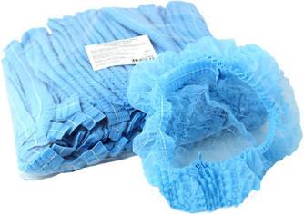 Шапочки косметологические голубые 100 шт