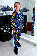 Пижама детская темно- синяя размер 2-3 BURKI, фото 1