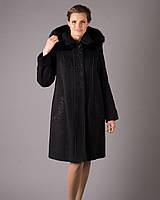 Женское зимнее пальто c капюшоном и с вышивкой рр 48-60