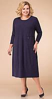 Платье Линия-Л-1743 белорусский трикотаж, темно-синий, 62