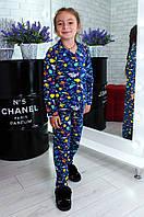 Пижама детская темно- синяя BURKI