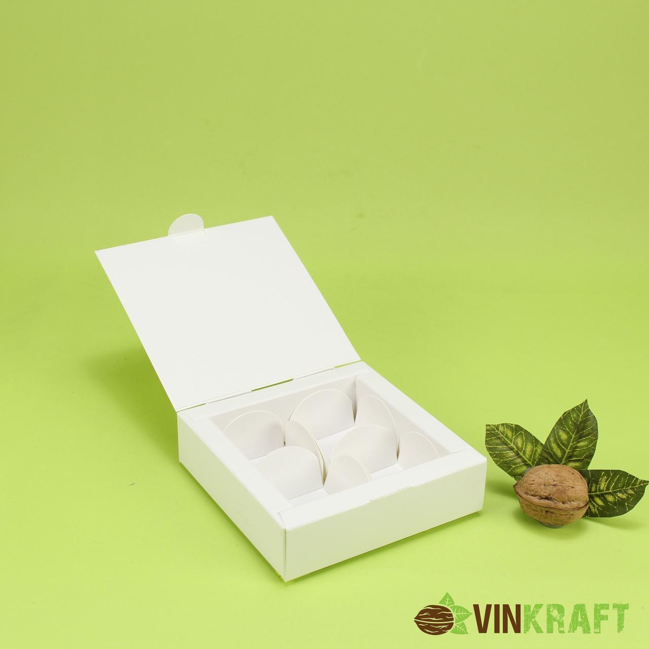 Коробка 112*112*30 для цукерок (4 шт), біла