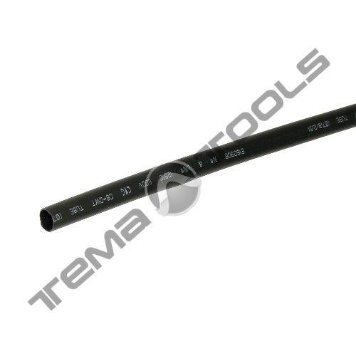Термоусадочная трубка с клеем 7,9/2,6 мм 1 м черная - термоусадка с клеевым слоем