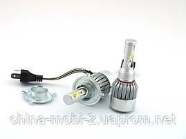 Car LED C6++ H4 H L COB 5500Lm, светодиодные автомобильные лампы основного света, фото 2