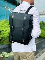 Рюкзак городской натуральная кожа черный 1607, фото 1