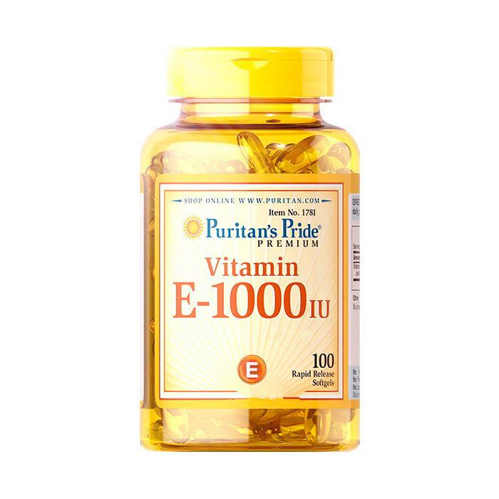 Vitamin E-1000 IU (100 softgels) Puritan's Pride