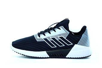 """Мужские кроссовки Adidas Climacool """"Black/Grey"""" (люкс копия)"""