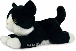 Мягкая игрушка Aurora котенок черно-белый 25 см