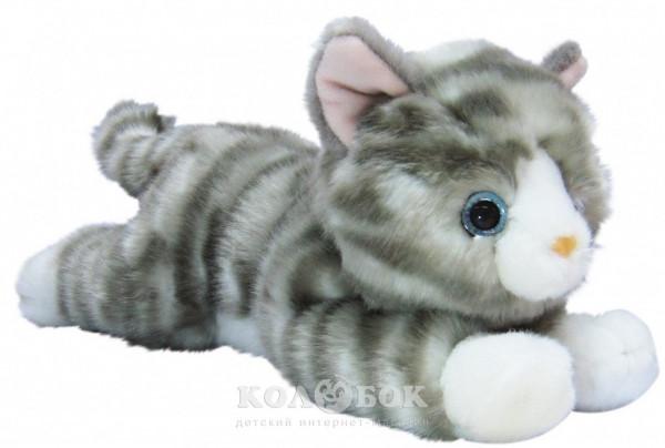 Мягкая игрушка Aurora котенок серый 25 см