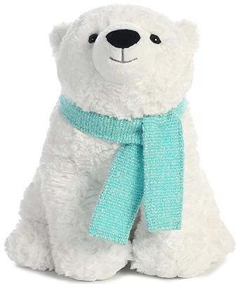 Мягкая игрушка AURORA Медведь полярный с шарфом 25 см