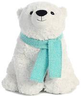 Мягкая игрушка AURORA Медведь полярный с шарфом 25 см, фото 1