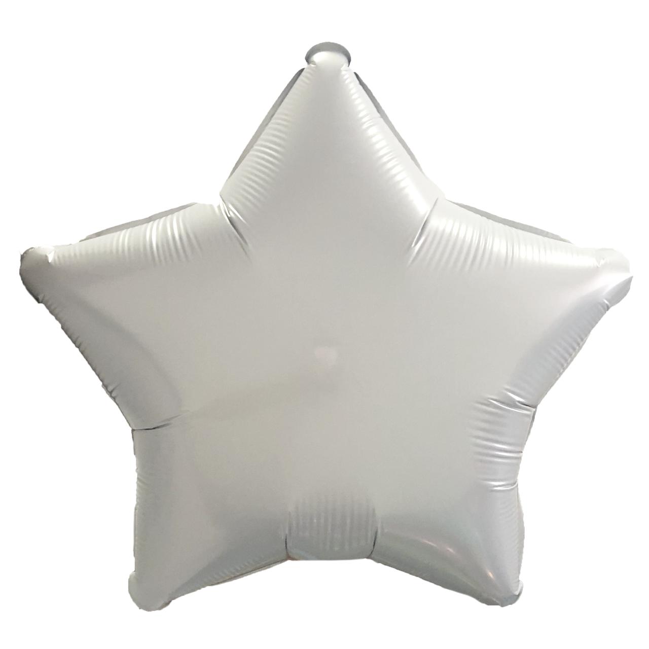 Фольгированный шар 18' Китай Звезда серая, 44 см