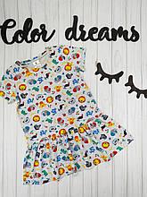 Платье детское из кулира на лето Африка