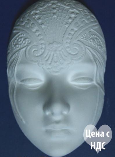 Маска из гипса №3, гипсовая заготовка для раскраски, ажурная маска