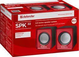 Колонки Defender SPK 22 2х2,5 Вт USB, серый, черный