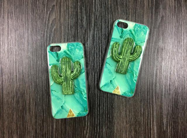 Силиконовый чехол для iPhone 6 Plus / 6S Plus Green с кактусом