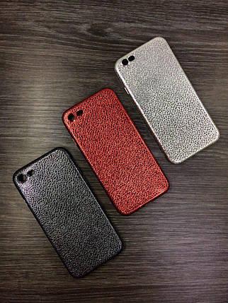 Силиконовый чехол для iPhone 6 Plus / 6S Plus Серебро под кожу, фото 2