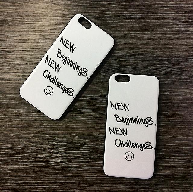 Чехол для iPhone 7 Plus / 8 Plus Белый c надписью