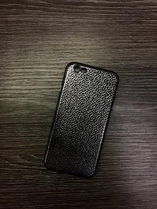 Силиконовый чехол для iPhone 6 / 6S Черный под кожу, фото 2