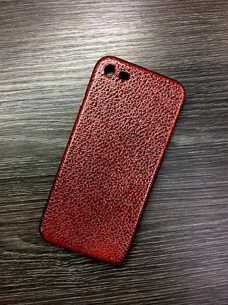 Силиконовый чехол для iPhone 6 / 6S Красный под кожу, фото 2