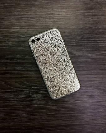 Чехол для iPhone 7 / 8 серебро под кожу, фото 2