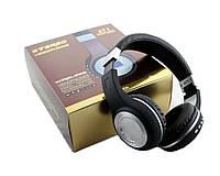 Наушники беспроводные bluetooth microSD FM MP3 471 Black реплика