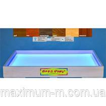 Мобільна світлодіодна пісочниця - планшет МІНІ 16 кольорів, відсік для піску - ВІЛЬХА /550×330