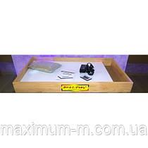 Мобильная светодиодная песочница - планшет МИНИ 16 цветов, отсек для песка- ЯСЕНЬ /550×330