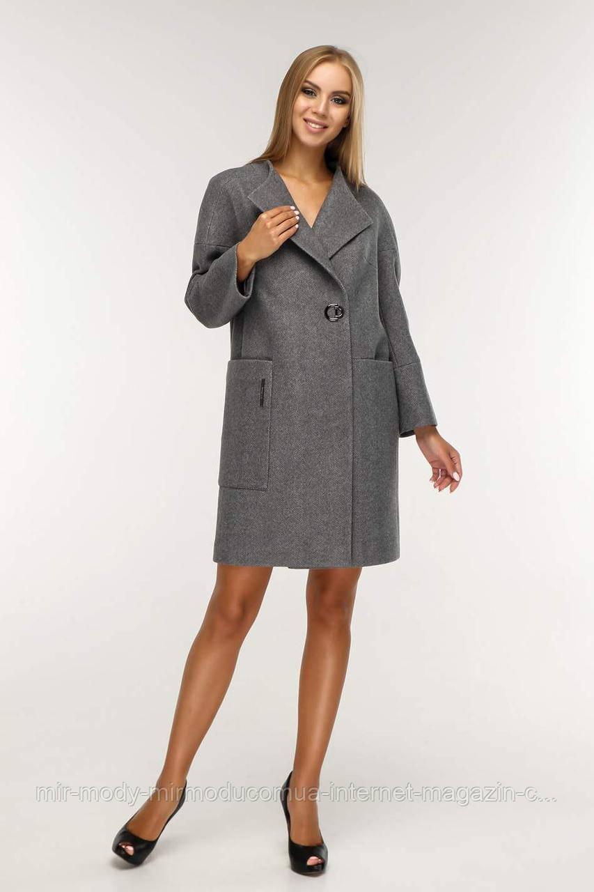 Женское демисезонное пальто В-1204  Тон 25 с 44 по 58 размер (фт)