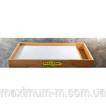 Мобільна світлодіодна пісочниця - планшет МІНІ білий, відсік для піску - ЯСЕН /550×330