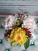 Красивый букет цветов . Мыло ручной работы.