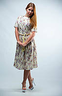 Платье женское с поясом и коротким рукавом от бренда Adele Leroy