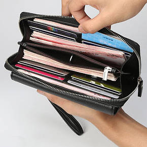 Мужской кошелек-клатч Baellerry 5515 черный, фото 2