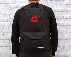 Спортивный, городской рюкзак рибок, Reebok. Черный. Стильный / R 1, фото 3